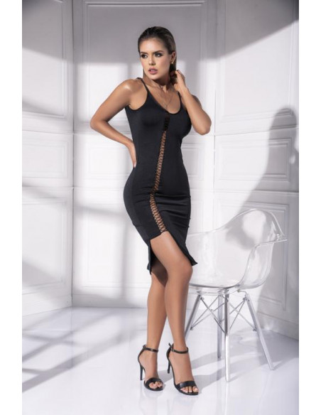 Robe sexy chic ajourée - 4538