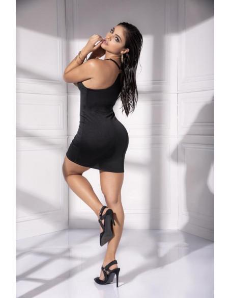 Robe noire sexy - 4536