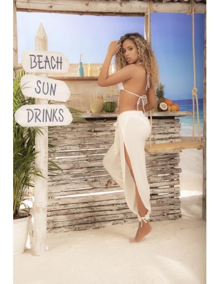 Pantalon de plage ouvert 7934 - Ivoire