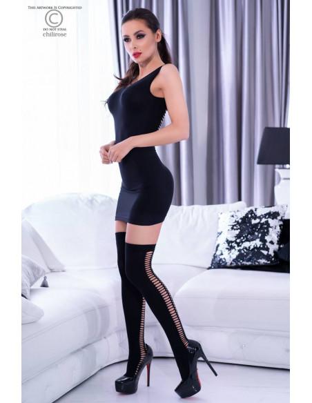 Ensemble robe courte CR4305 Noir