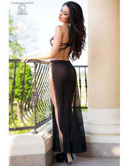 Ensemble robe longue CR4085 Noir
