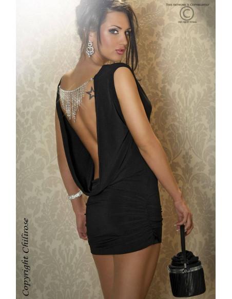Robe courte CR3216 Noir