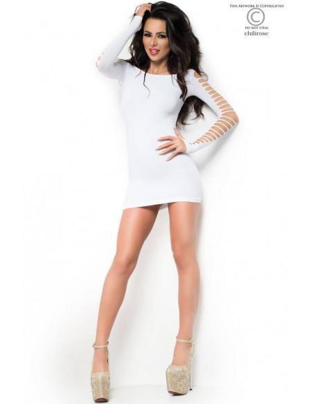 Robe courte CR3608 Blanc