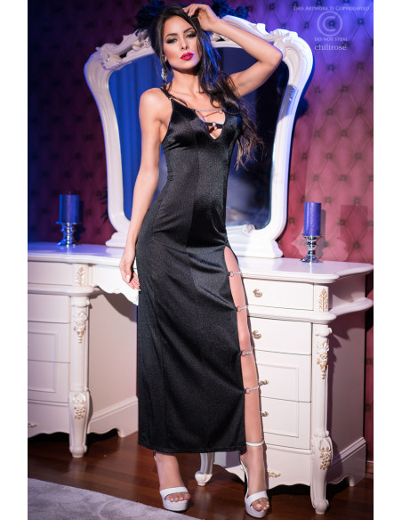 Robe longue CR4164 Noir